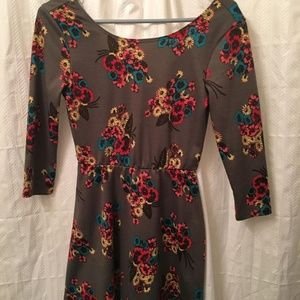 women's lily rose floral print dress